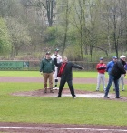 "Beim ""First Pitch"" in Solingen"