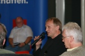 Diskussion zu den 'Schattenseiten des Sports' am 09. September 2008 in Solingen.